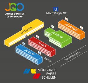 Lageplan Münchner Farbe Schulen